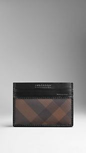 Smoked Check ID Card Case