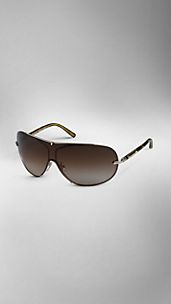 Metal Frame Visor Sunglasses