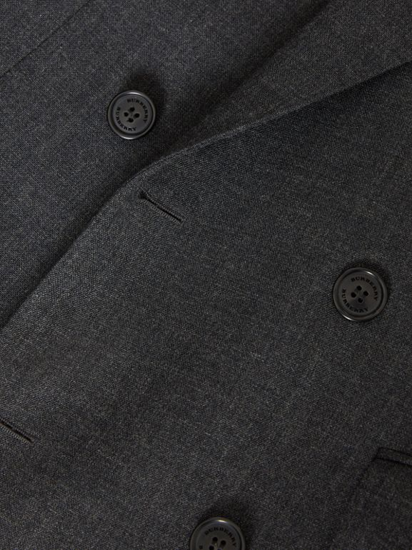 English Fit Wool Double-breasted Jacket in Dark Grey - Men | Burberry - cell image 1