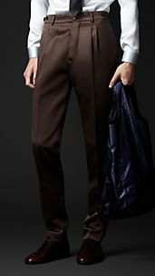 Slim Fit Bonded Satin Trousers