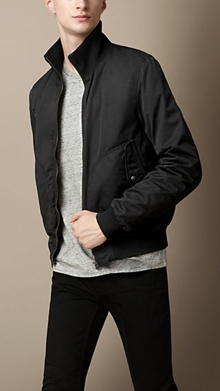Reversible Cotton Gabardine Blouson