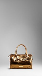 Medium Metallic Bridle Leather Bowling Bag