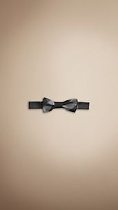Check Silk Bow Tie
