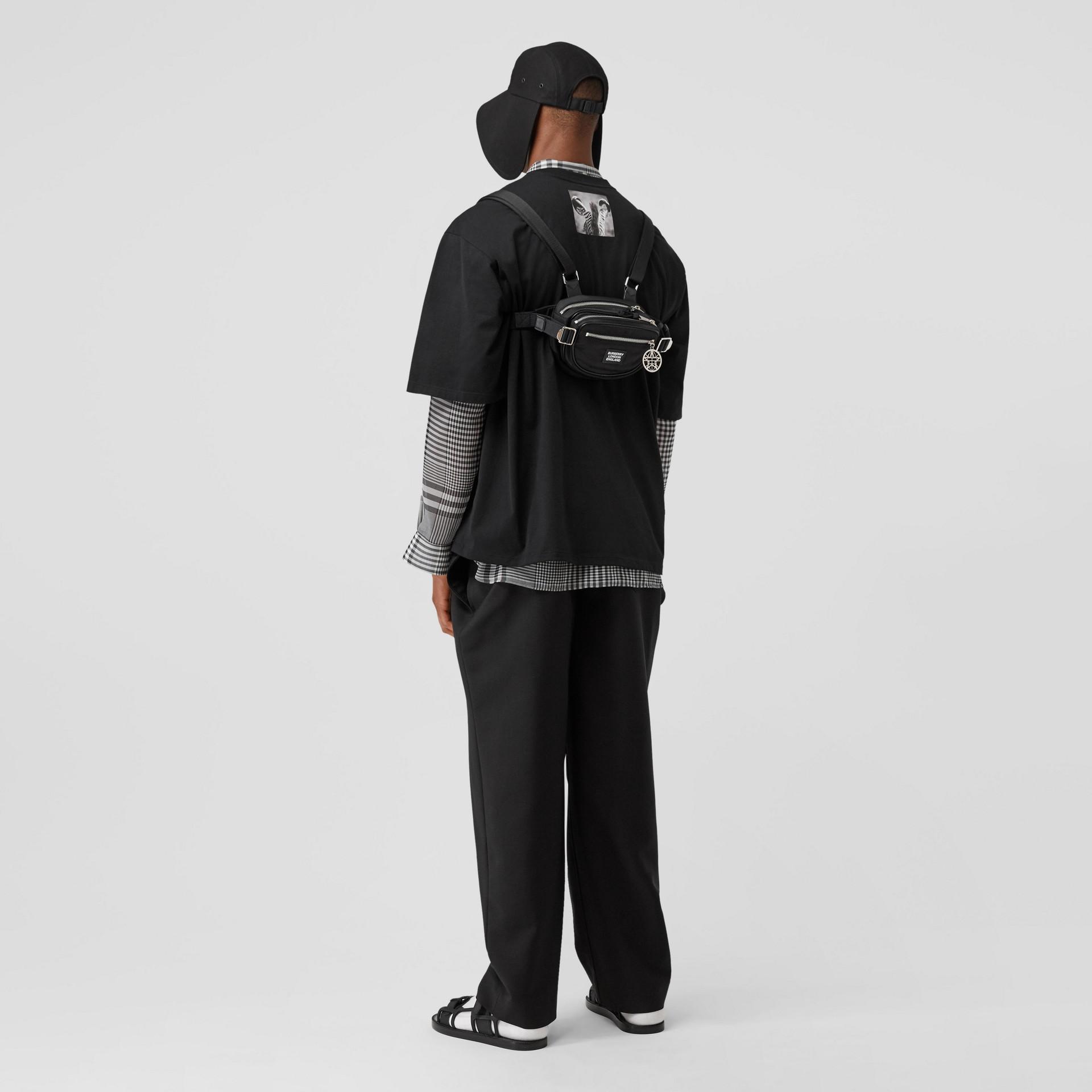 Logo Appliqué ECONYL® Cannon Belt Pack in Black | Burberry - gallery image 7