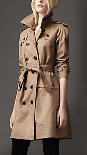 Trench-coat long en coton résiné surdimensionné