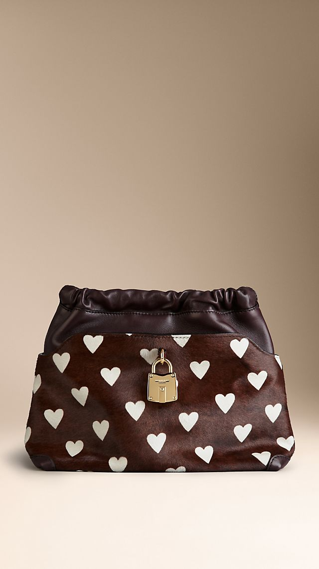 The Little Crush in Heart Print Calfskin and Leather
