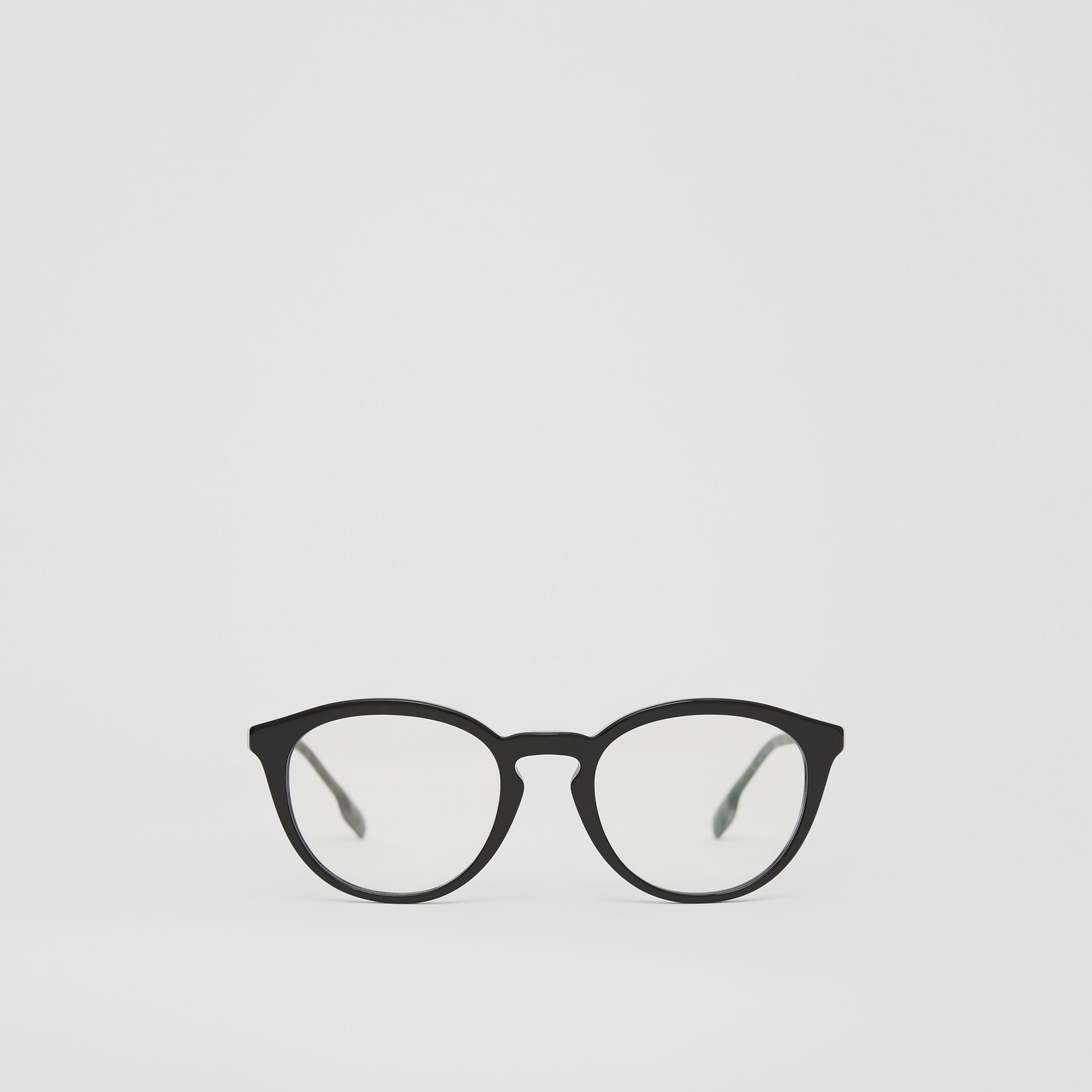 Round Optical Frames in Black - Men | Burberry - gallery image 0