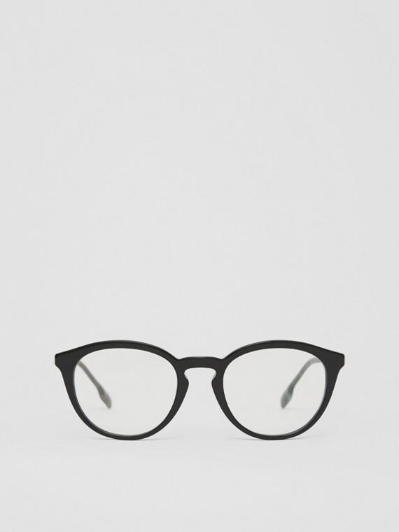 Monture ronde pour lunettes de vue (Noir)
