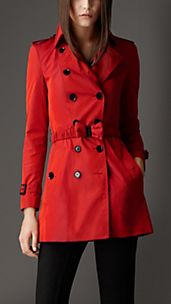 Short Bow Belt Trench Coat