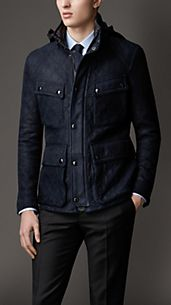 Quilted Suede Field Jacket