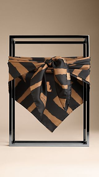 Animal Design Silk Square Scarf
