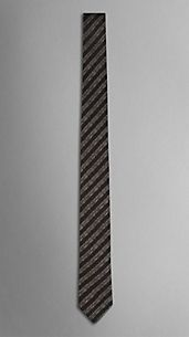 Striped Jacquard Silk Tie