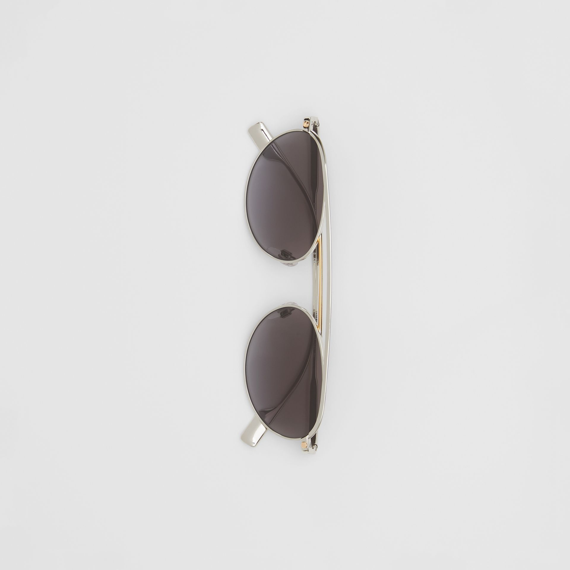 Oval Frame Sunglasses in Grey - Women   Burberry - gallery image 3