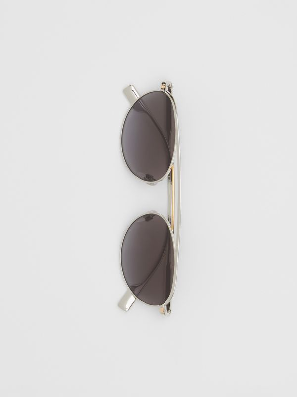 Oval Frame Sunglasses in Grey - Women   Burberry - cell image 3