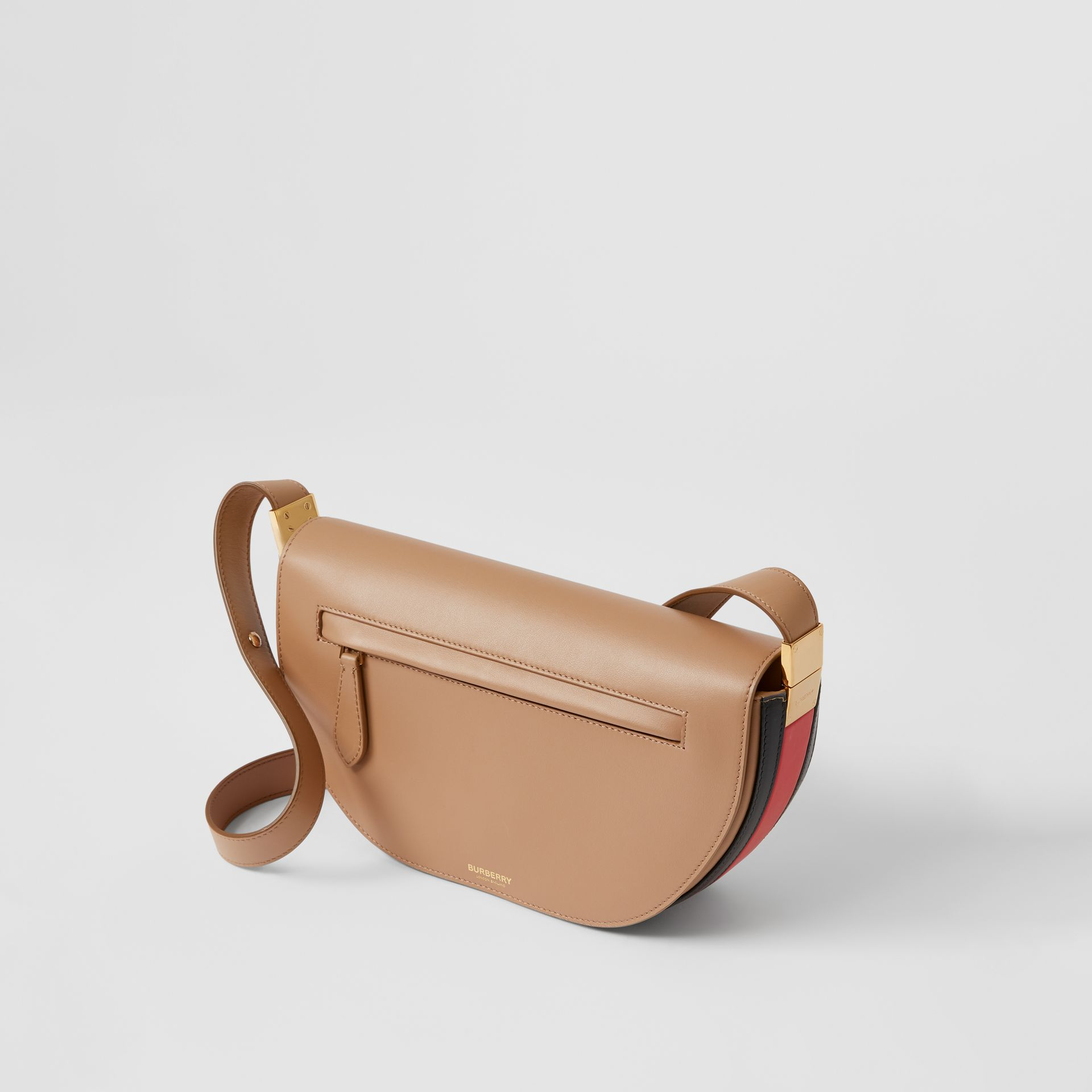 Small Leather Olympia Bag in Camel - Women | Burberry - gallery image 3