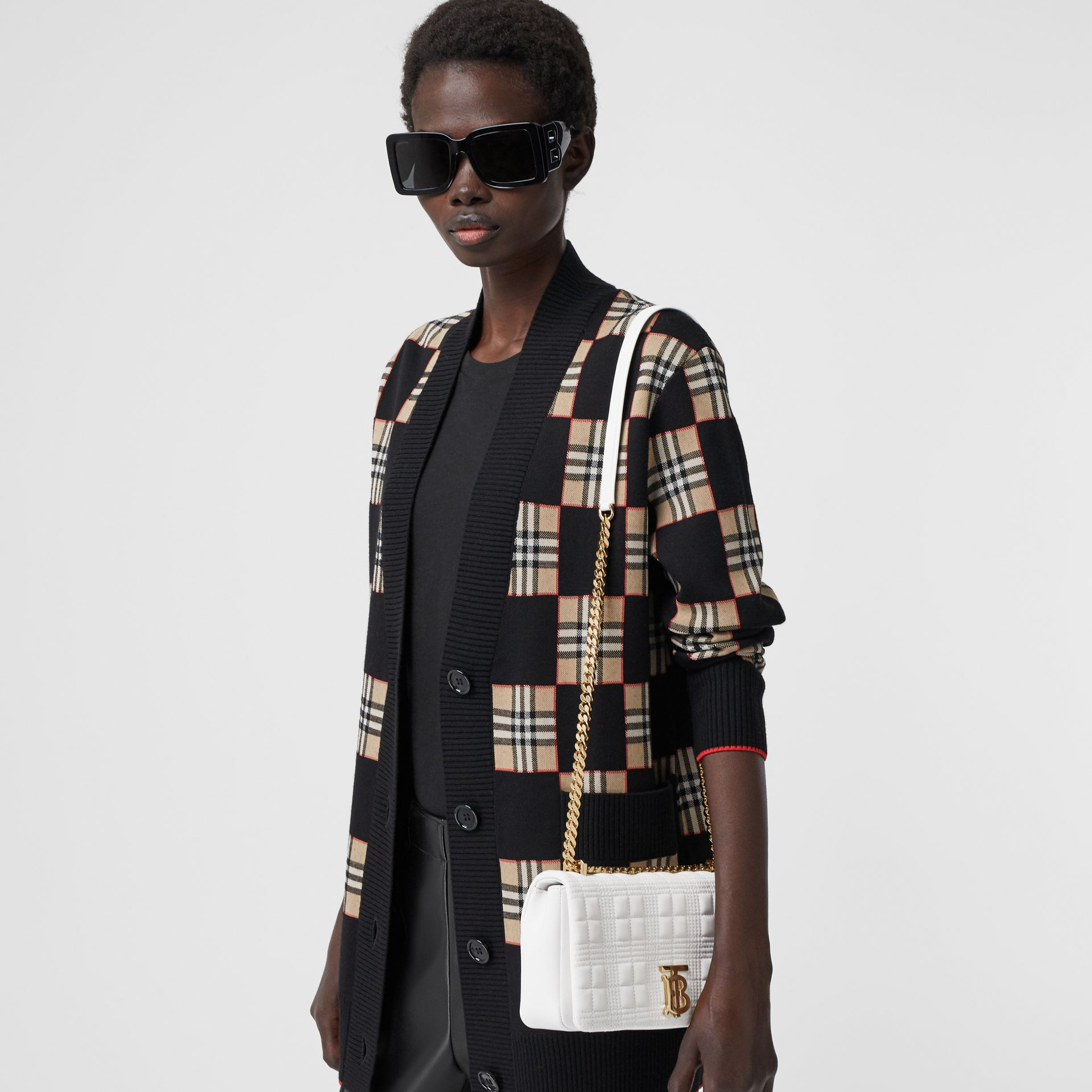 Small Quilted Lambskin Lola Bag in White | Burberry Singapore - gallery image 9