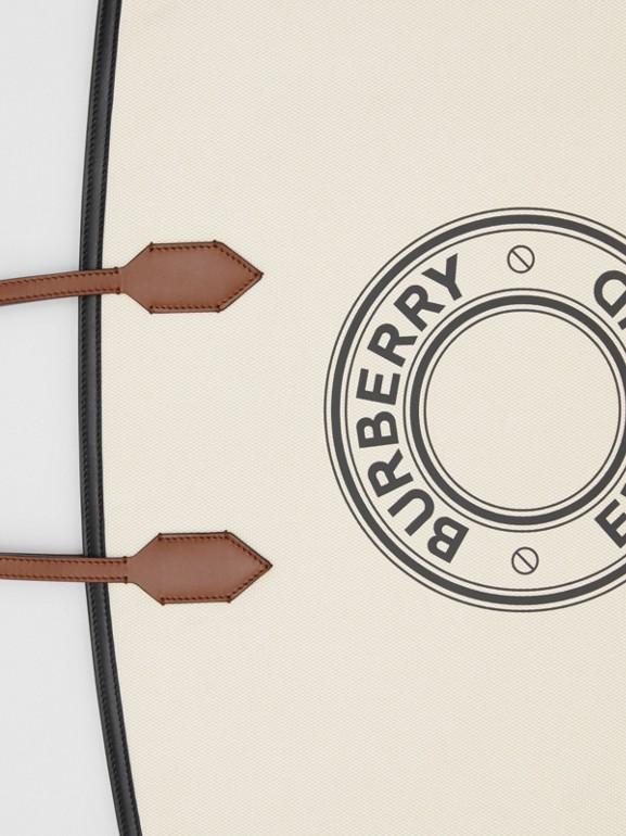 ロゴグラフィック コットンキャンバス ソサエティトート (ナチュラル) - ウィメンズ | バーバリー - cell image 1