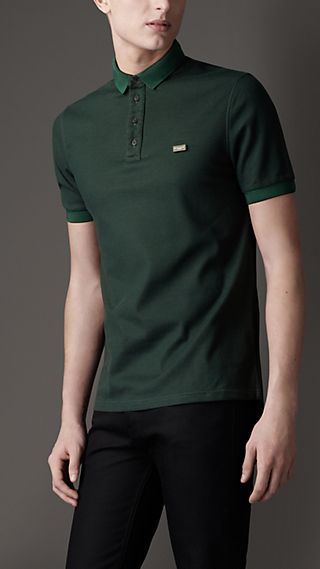Double-Weave Piqué Cotton Polo Shirt