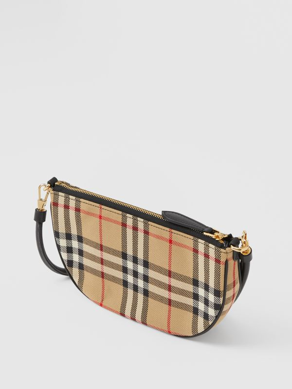 Vintage Check Cotton Olympia Pouch in Archive Beige - Women | Burberry United Kingdom - cell image 3