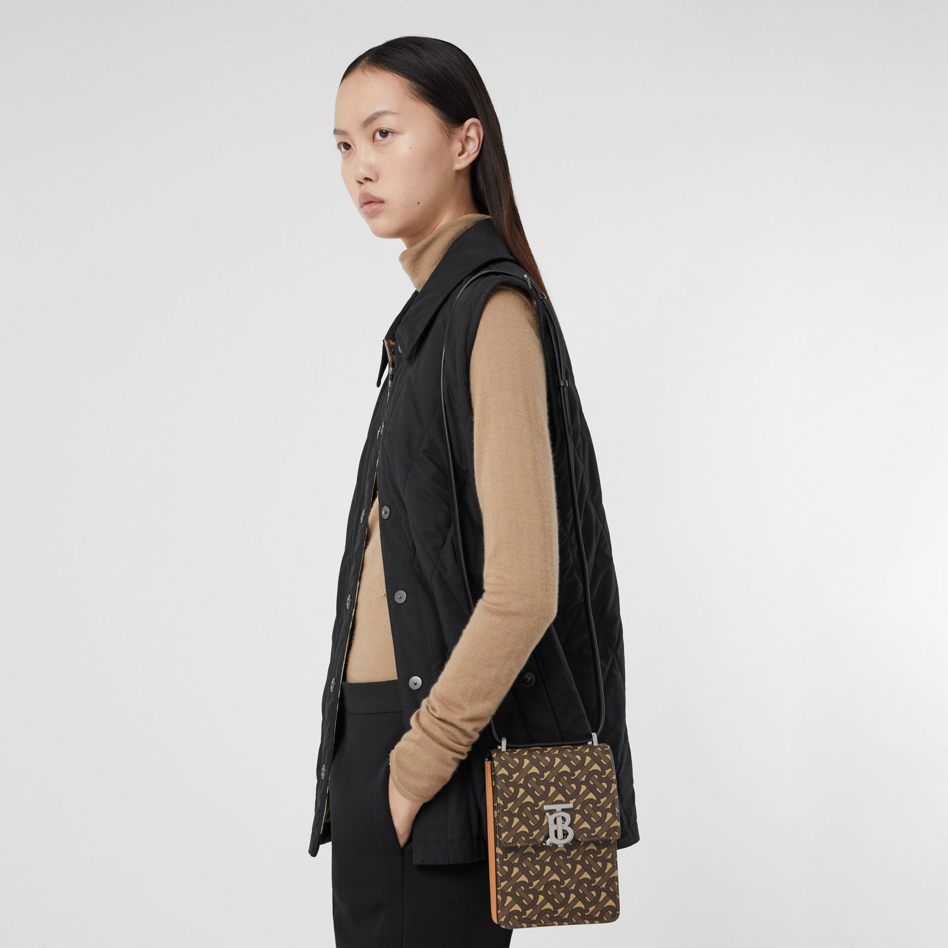 Monogram Print E-canvas Robin Bag in Bridle Brown | Burberry - gallery image 10