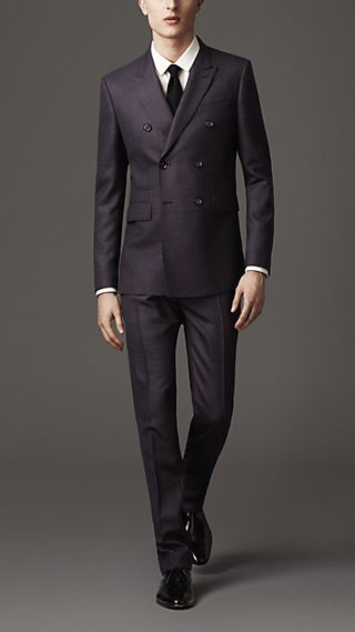 Modern Fit Wool Double-Breasted Suit