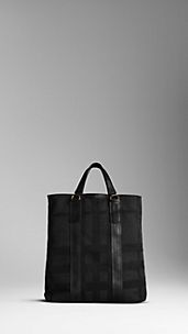 Hunting Check Jacquard Tote Bag
