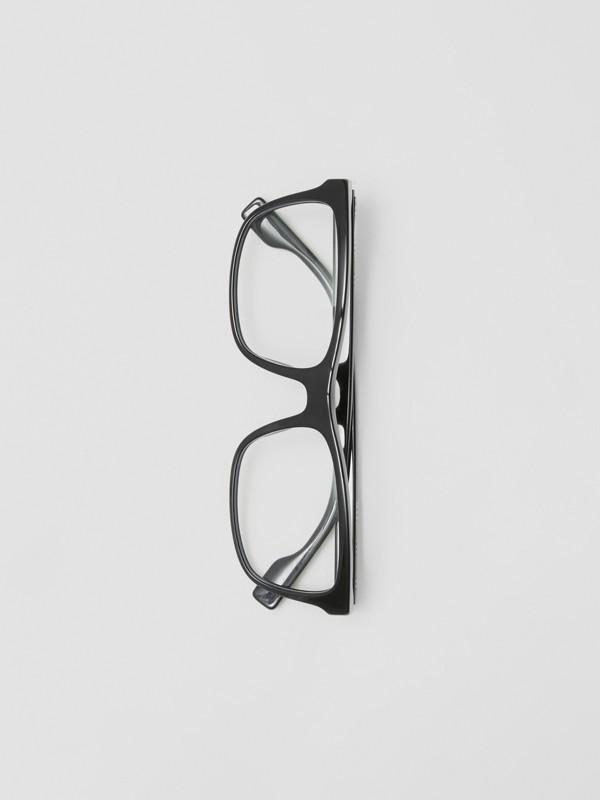 Montatura da vista rettangolare con iconico motivo a righe (Nero) - Uomo | Burberry - cell image 3