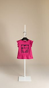 Heart Graphic Peplum T-Shirt