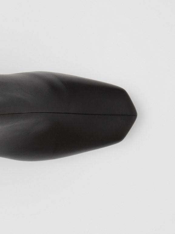 Lambskin Sculptural Kitten-heel Ankle Boots in Black - Women | Burberry - cell image 1