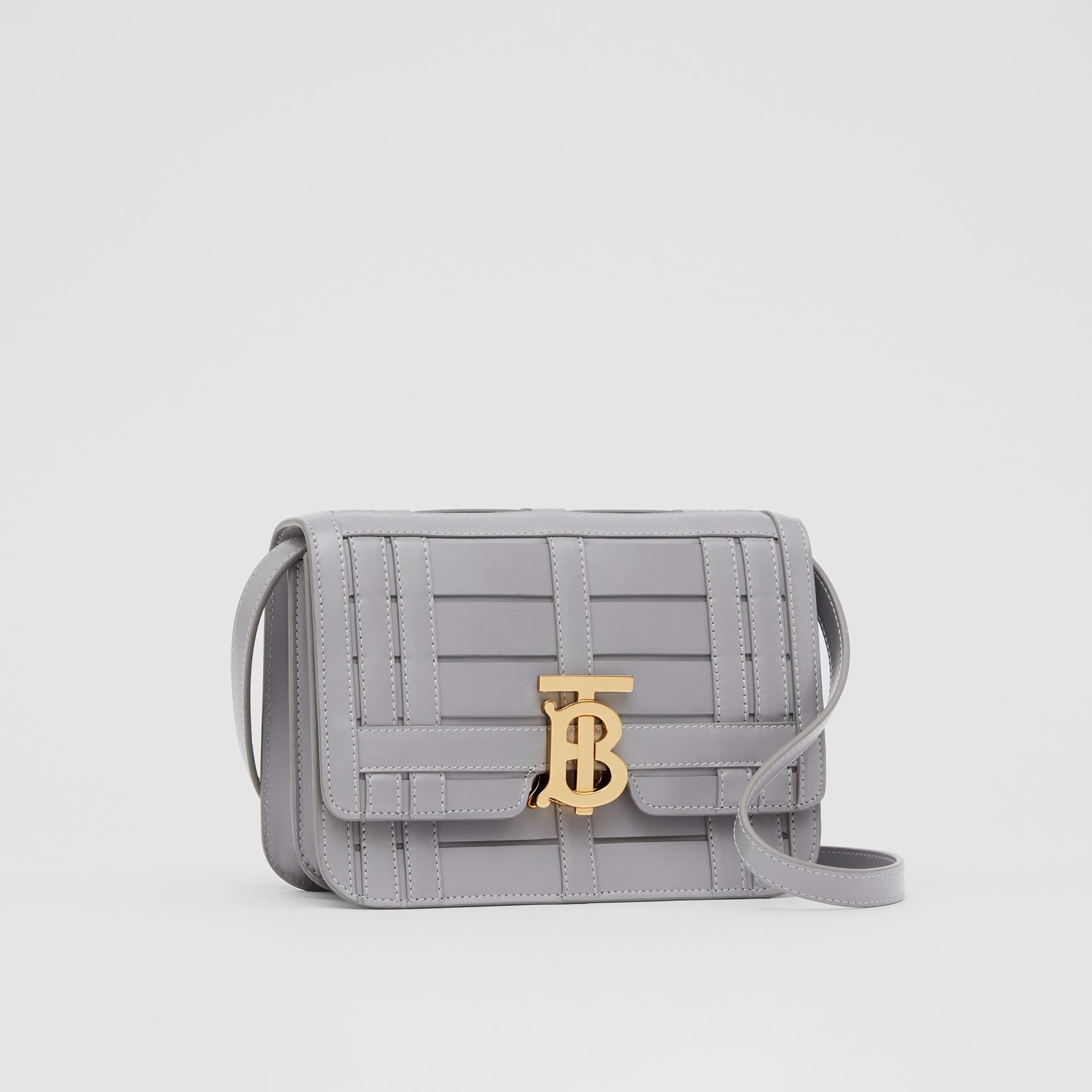 Small Woven Leather TB Bag in Cloud Grey - Women | Burberry - gallery image 6