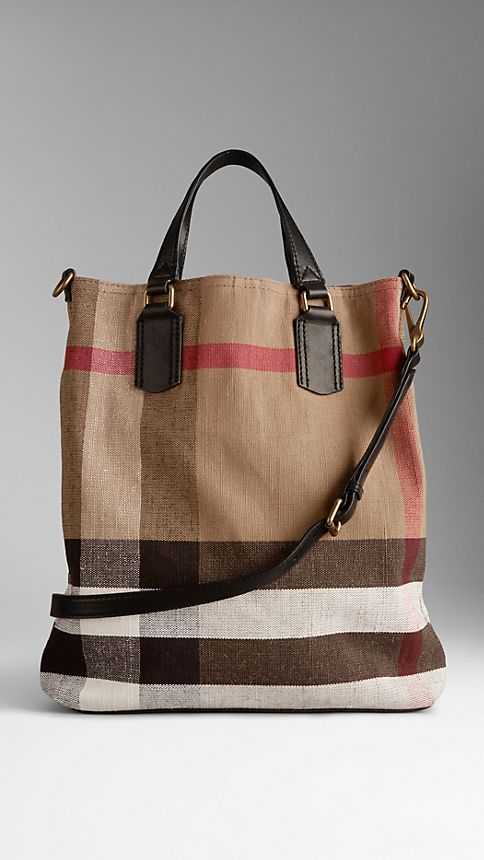 Tote Bag: Burberry Medium Canvas Tote Bag