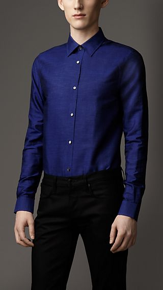Modern Fit Linen Cotton Shirt