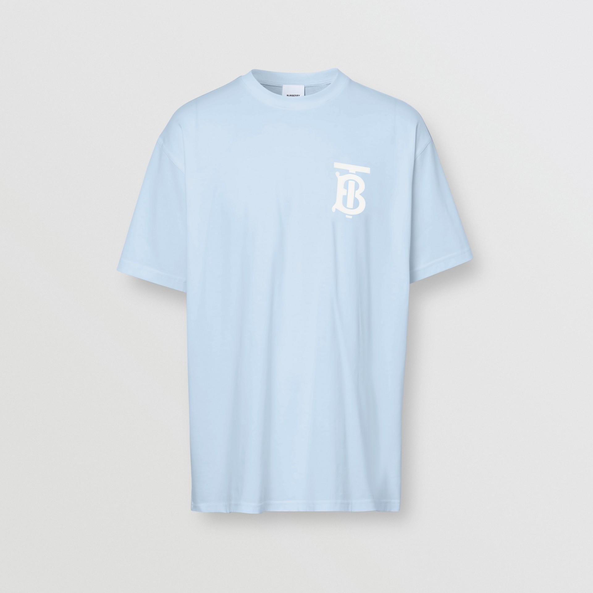 Monogram Motif Cotton Oversized T-shirt | Burberry United Kingdom - gallery image 3
