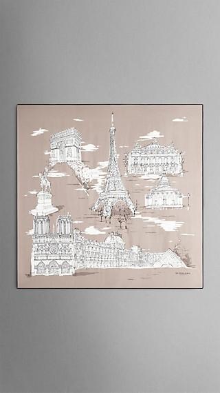 Seidenkarree mit Pariser Wahrzeichen – mittelgroß