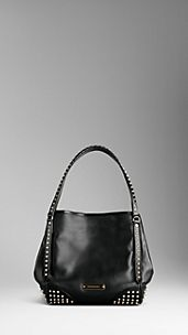 Small Bridle Leather Studded Tote Bag