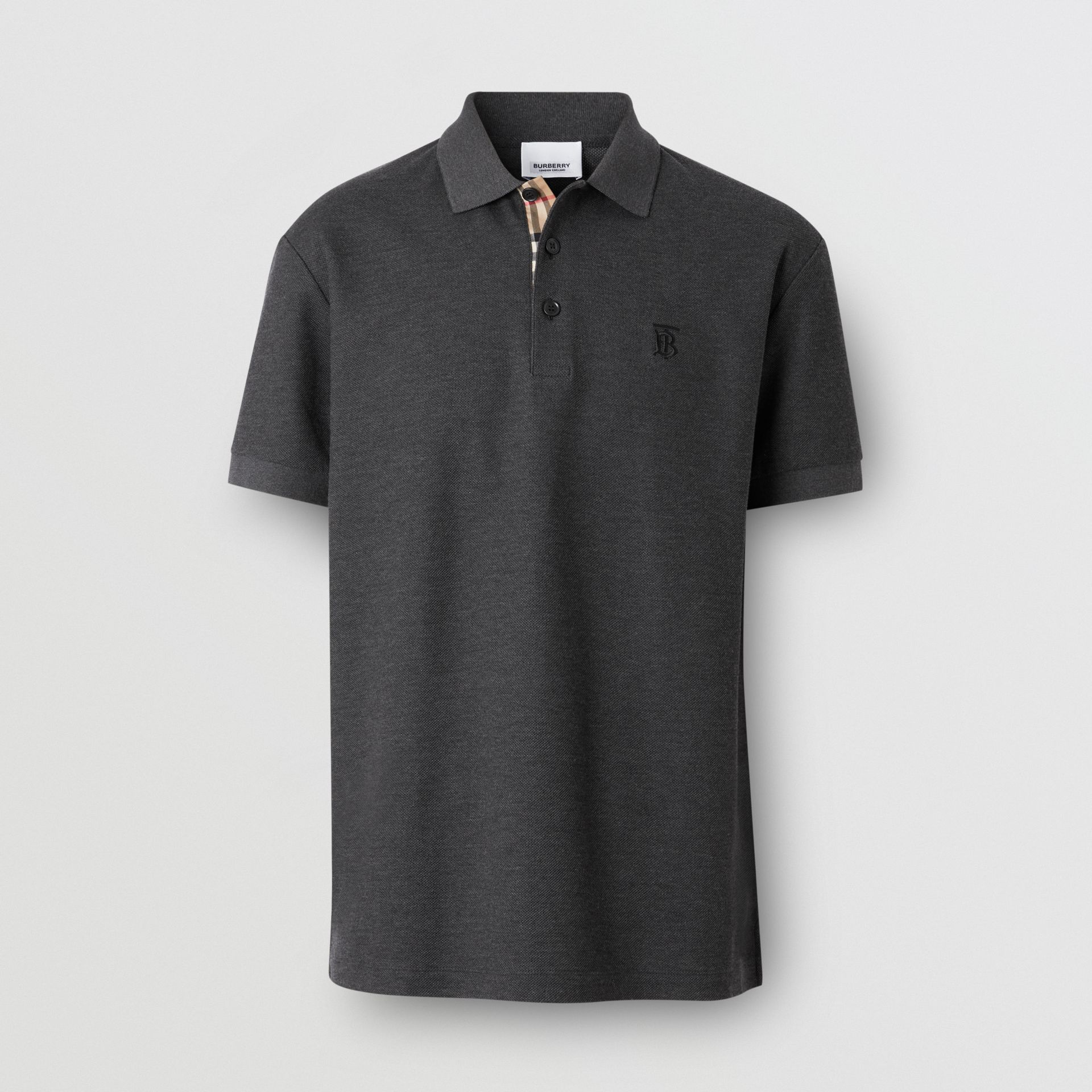 Monogram Motif Cotton Piqué Polo Shirt - Men | Burberry United Kingdom - gallery image 3