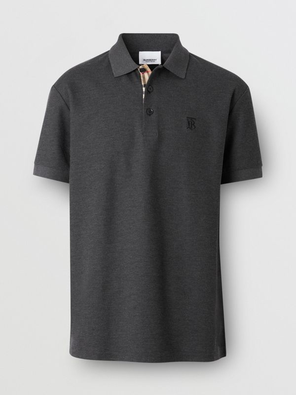 Monogram Motif Cotton Piqué Polo Shirt - Men | Burberry United Kingdom - cell image 3