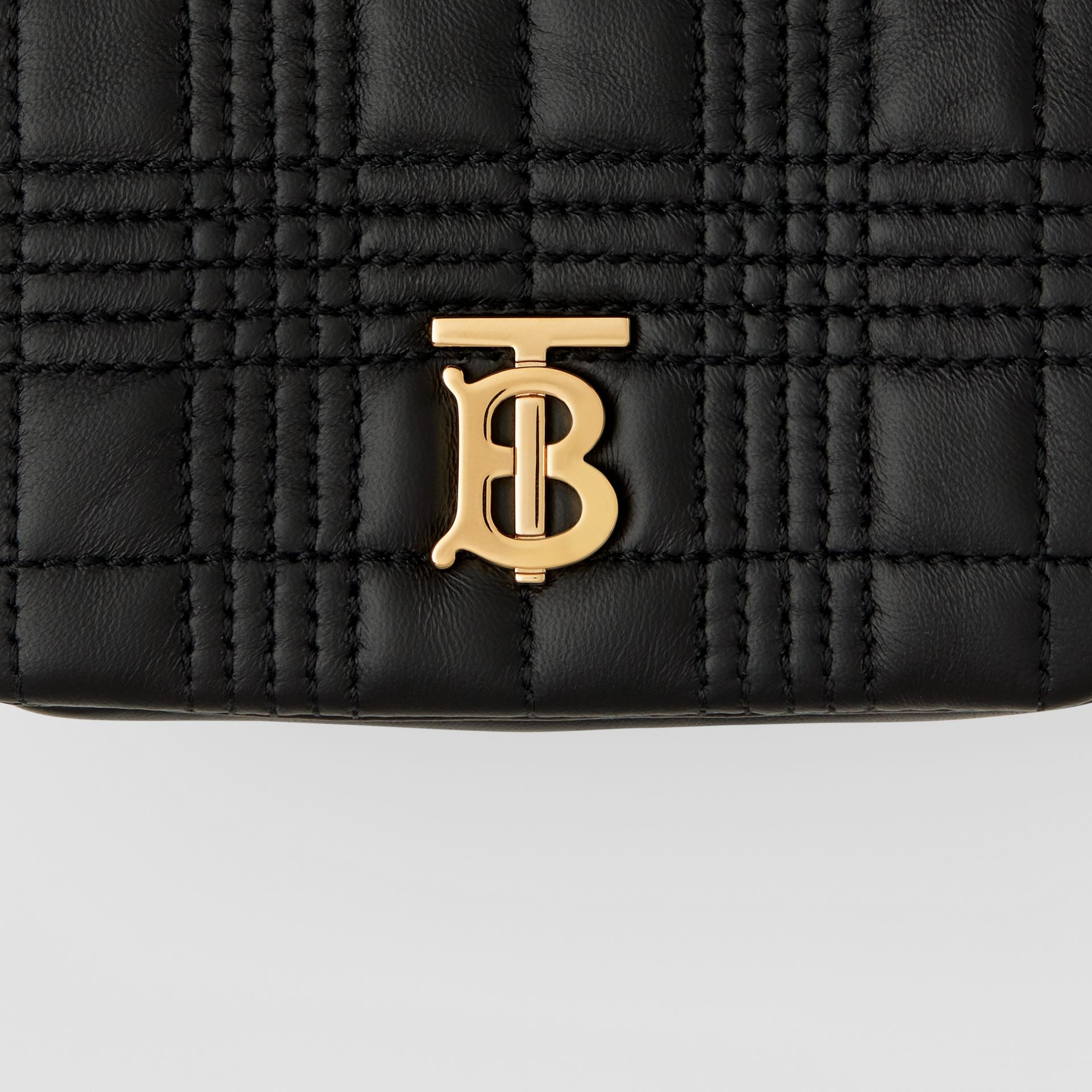 Micro Quilted Lambskin Lola Bag in Black - Women | Burberry - gallery image 1
