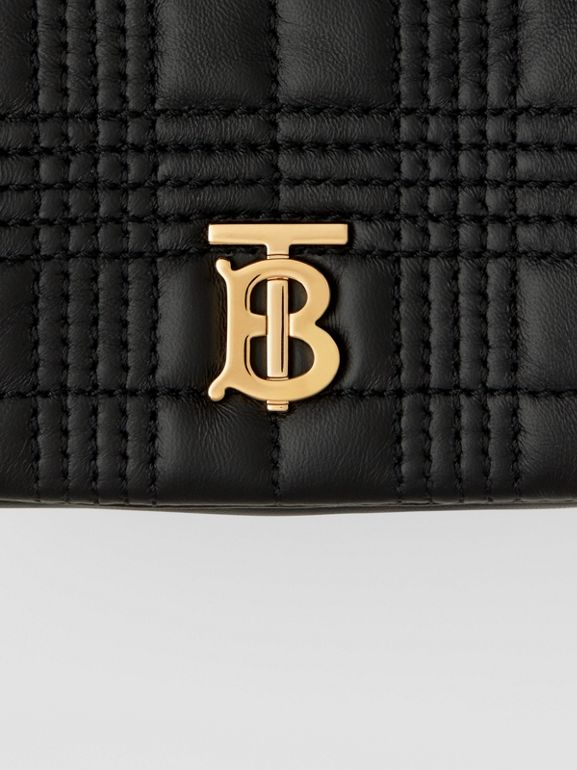 Micro Quilted Lambskin Lola Bag in Black - Women | Burberry - cell image 1
