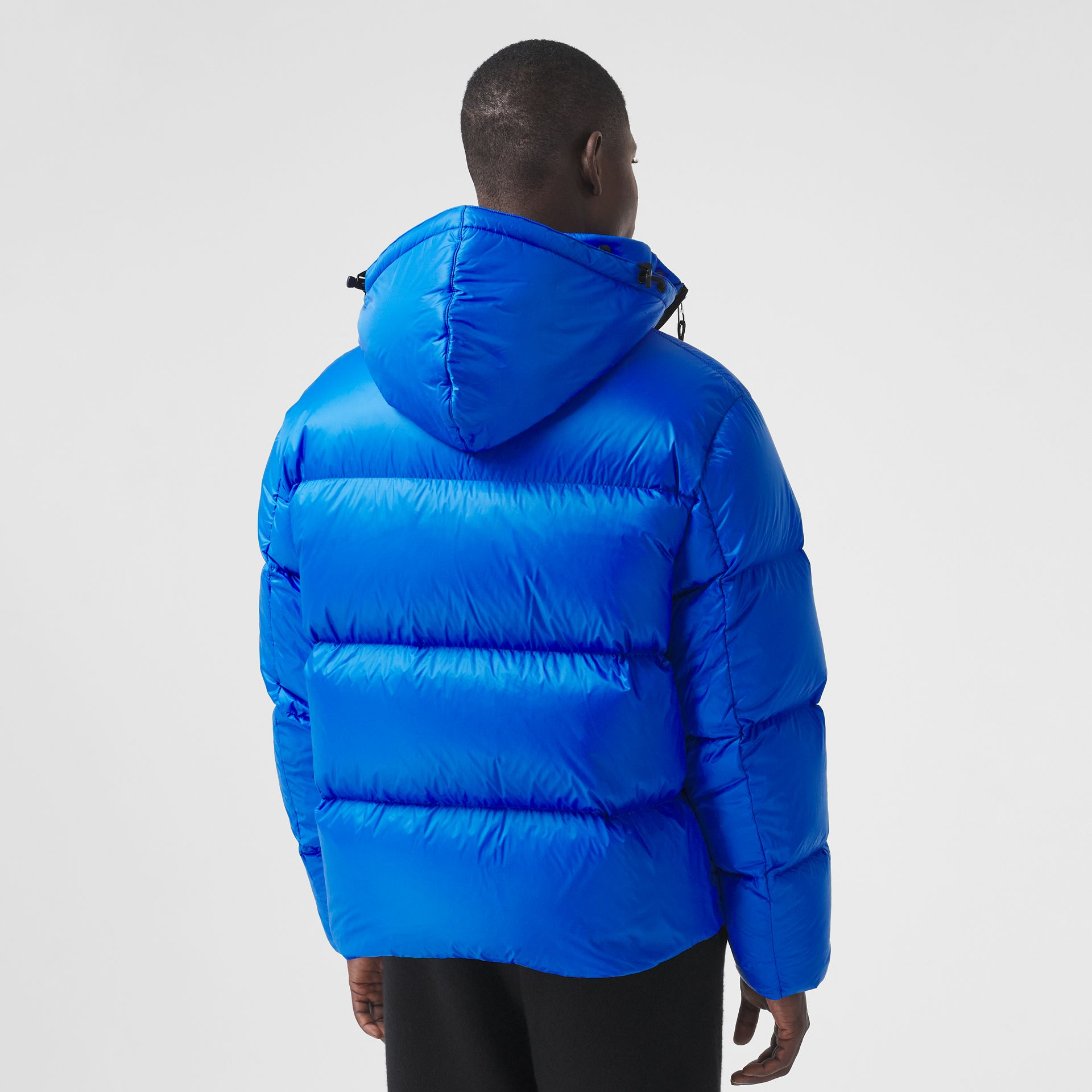 Packaway Hood Zip Detail Puffer Jacket in Canvas Blue - Men | Burberry - gallery image 2