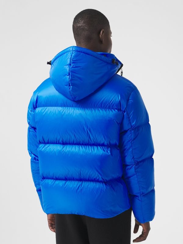 Packaway Hood Zip Detail Puffer Jacket in Canvas Blue - Men | Burberry - cell image 2