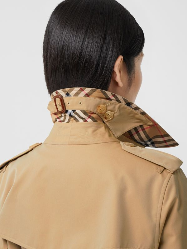 The Mid-length Kensington Heritage Trench Coat in Honey - Women | Burberry - cell image 3