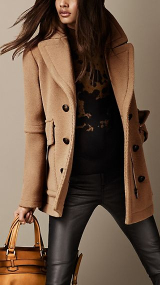Box-Fit Pea Coat