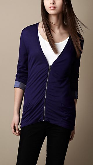 Reversible Zip-Front Cardigan