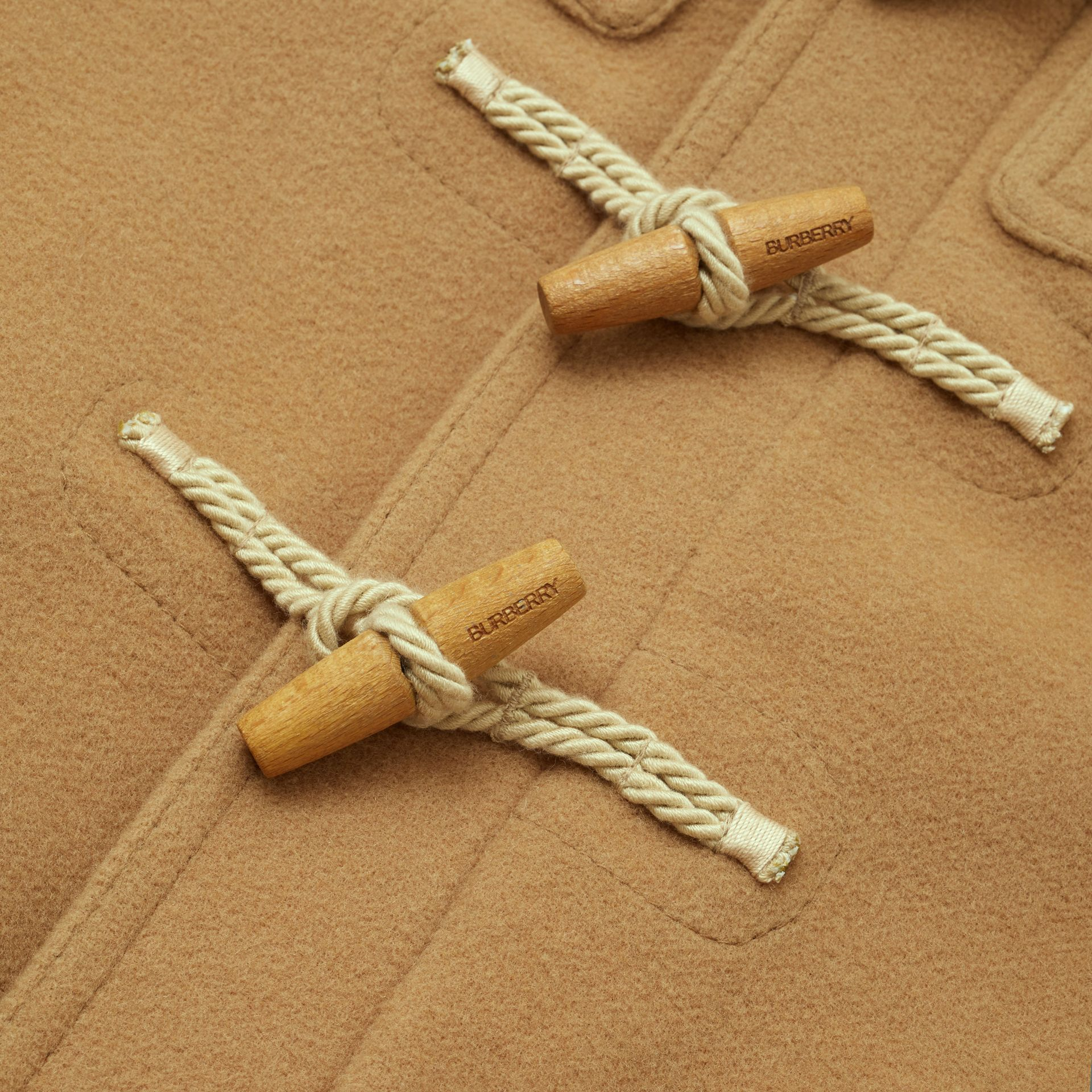 Double-faced Wool Duffle Coat in Antique Yellow | Burberry United Kingdom - gallery image 1