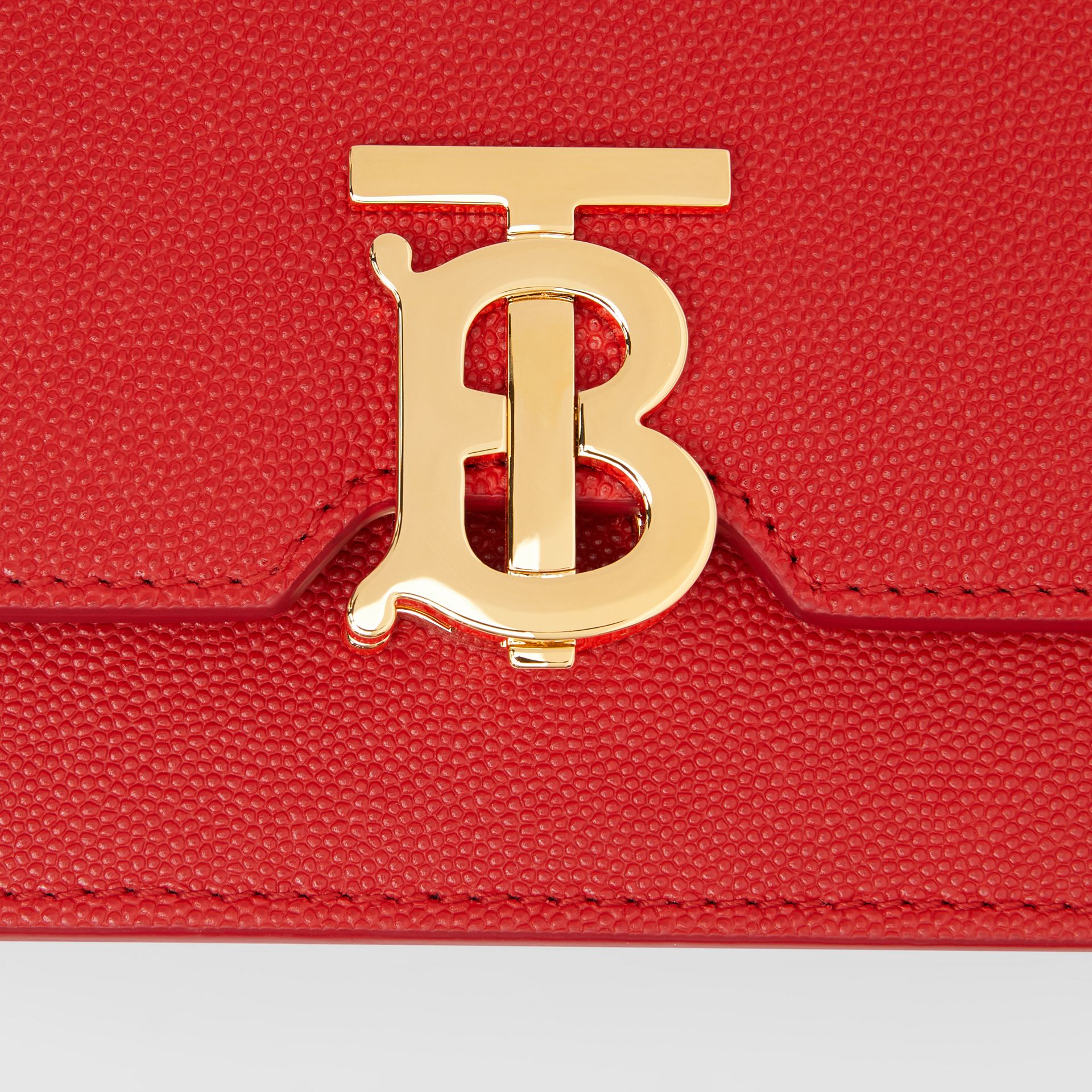 Mini Grainy Leather TB Bag in Bright Red - Women | Burberry - gallery image 1