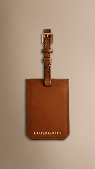 Sartorial Leather Luggage Tag