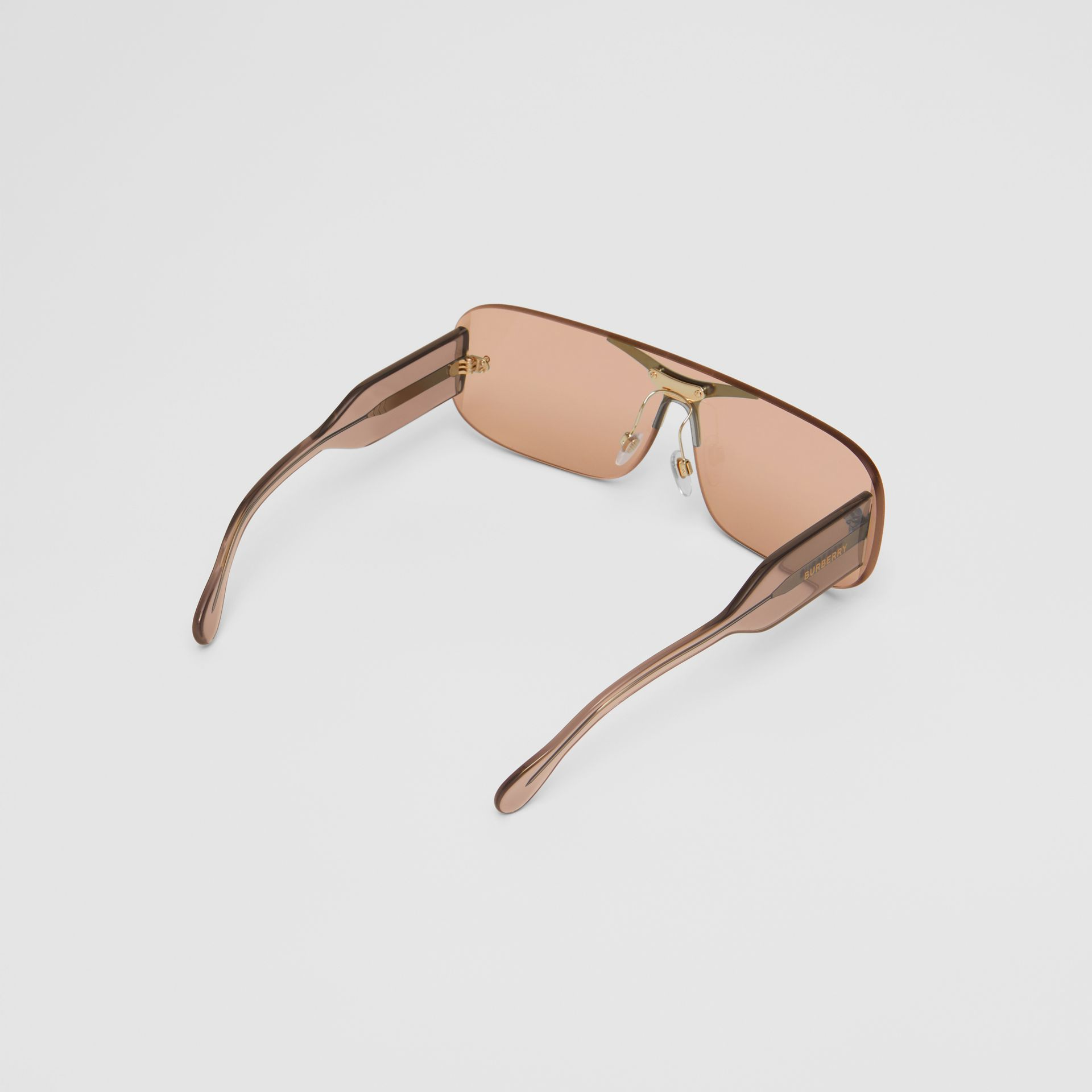 Blake Shield Sunglasses in Light Brown | Burberry - gallery image 5