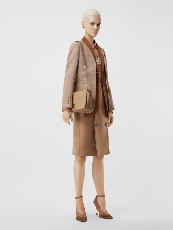 Medium Quilted Lambskin Lola Bag in Camel/light Gold - Women | Burberry Australia - cell image 2