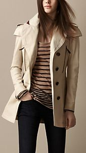 Cape Detail Trench Coat